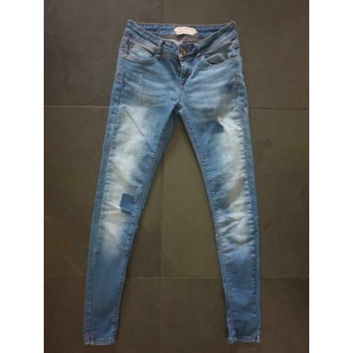 Nieuwstaat dames anti blue skinny jeans stretch mt 24-32