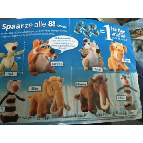 ICE age 3 knuffels