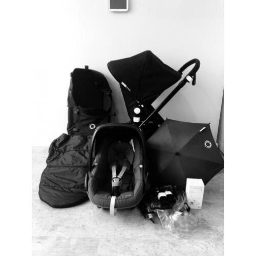 Bugaboo cameleon 3 all black limited Edition incl..Maxicosi