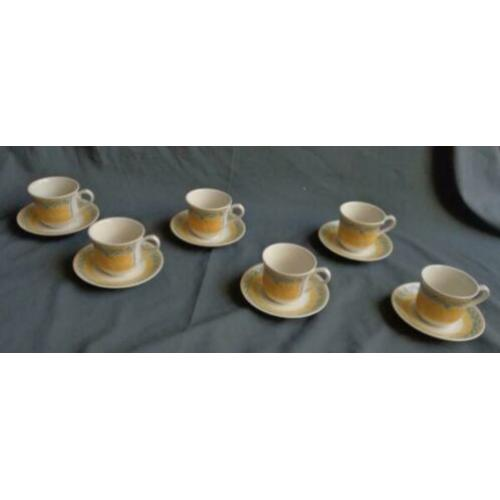 CHURCHILL PORTS OF CALL 6x koffie kop en schotel H7,5xO8,5cm