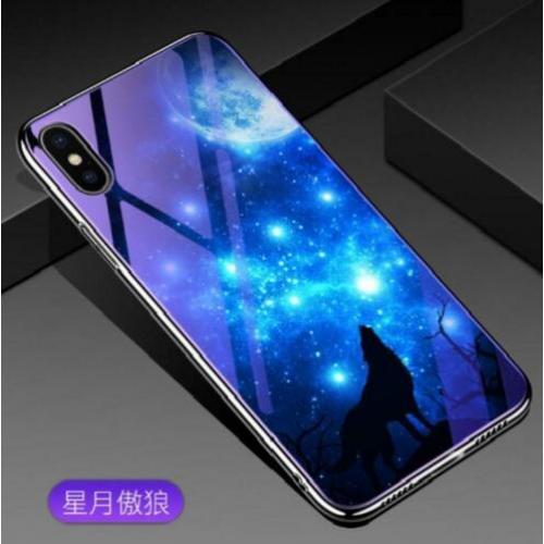 Blauwlicht Backcover Set Huawei Mate 20 Lite -Maanlichtwolf