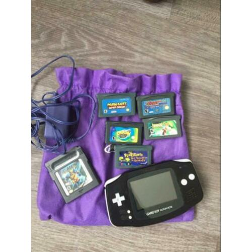 Game Boy Advance incl 6 spellen
