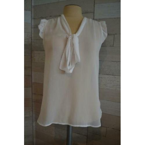 witte voile blouse maat 38 - - q43