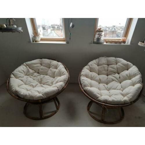 Cotton and Wood Chairs €160 for both