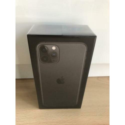 Iphone 11 Pro 64GB Black, Nieuw, Gesealed, Bon